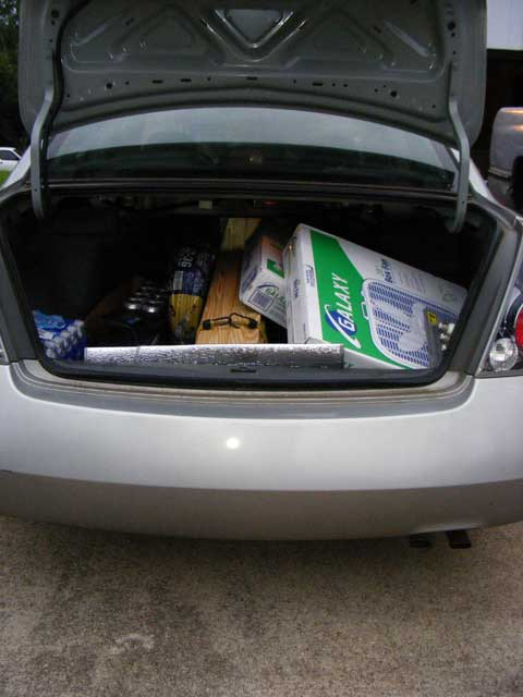 Lot's 'O stuff in the trunk
