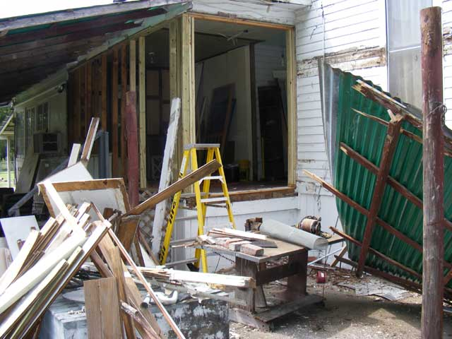 The French door framing