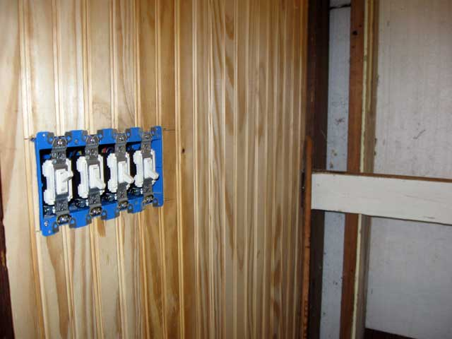 The switches for the Sunroom.