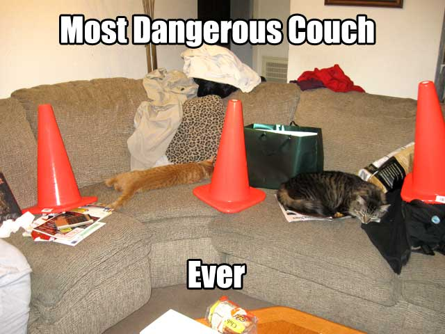 The most dangerous couch. Ever.