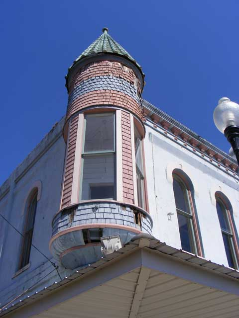 The tower before repairs