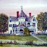 The Baker House, Clarksville, Texas...a small painting
