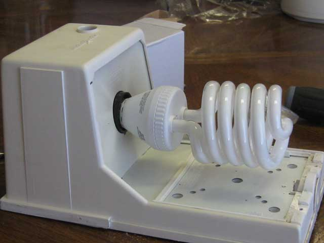 Adapting a fixture for a new bulb--assembled