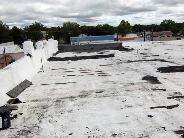 The roof of The Cupola Building...looking east.
