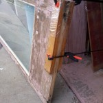 Door repair on the square