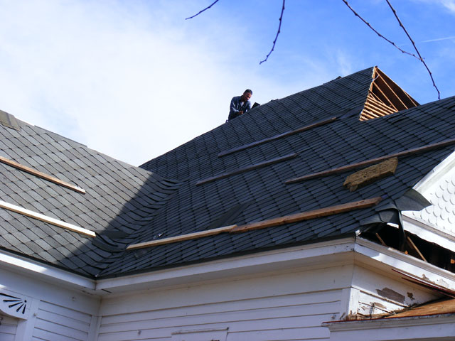 North side shingles.