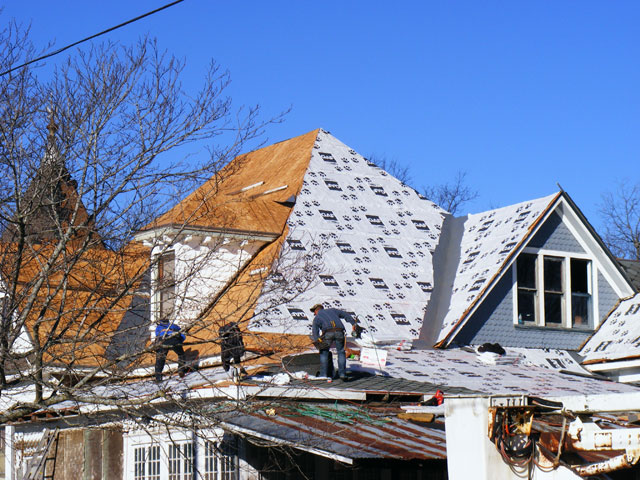 Shingles going down!