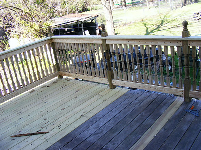 We like the look/sturdiness of this railing.