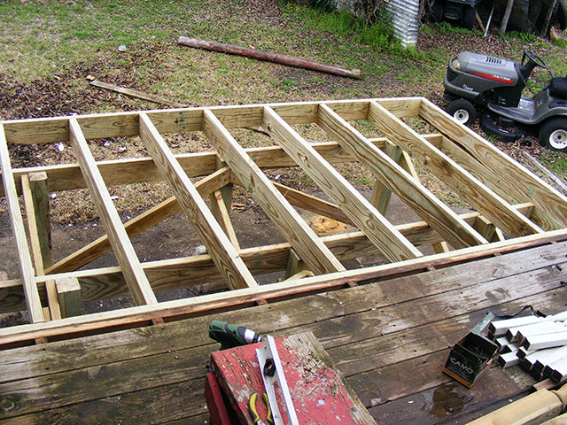 The Deck Framing...overbuilt as usual.