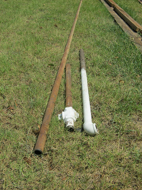 Superfluous gas pipe