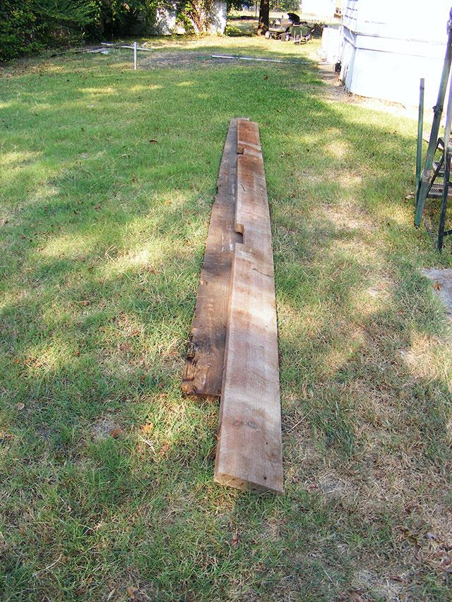 LONG (20 foot) 2x8's.