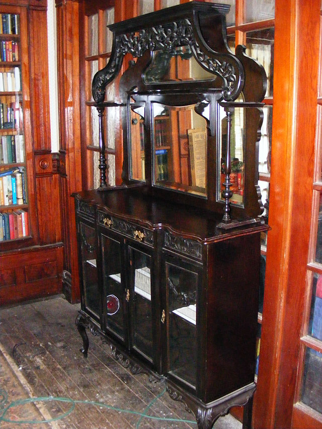 Etagere, hutch, or shelf...it's a very nice piece.