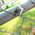 Parts of the fence were welded together