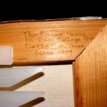 The Baker House, Clarksville, Texas...a note on the frame